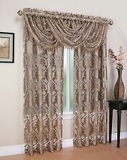 Luxurious MILAWI WINDOW TREATMENT,window curtain JACQUARD SHEER Panel or valance