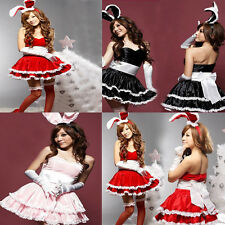 Sexy Cute Plus Size Bunny Girl Adult Fancy Dress Costume for Hallowmas&Christmas