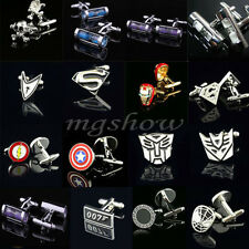 Super Hero Cufflinks Men Wedding Party Novelty Superhero Shirt Cuff Links Sleeve