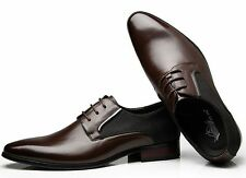 FASHION MENS LACE UP CLASSIC POINTED TOE OXFORDS LEATHER CASUAL DRESS SHOES
