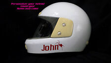 PERSONALIZED TEXT DECAL/STICKER FOR HELMET - WITH/OUT SPIDER/SPYDER - 13 COLORS