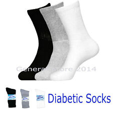 3 6 12 Pairs Mens Womens Circulation Diabetic Solid Crew Socks Buruka 9-11 10-13