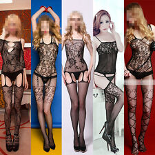 New Sexy Women Lingerie Bodystocking Pantyhose Nightwear Multi Design