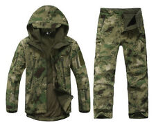 Tactical Jacket  Pant Set Soft Shell Army Camouflage Suit Sport Outdoor Military