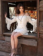Union Of Angels Ivory Ecru Crocheted Tristan Dress Gorgeous & Sexy