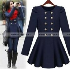 New Fashion Women Stylish Double Breasted Slim Fit Jacket Coat 2 Colors WCOT139