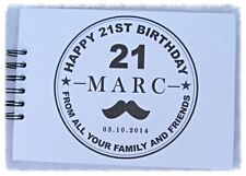 PERSONALISED MALE*MENS* 18th 21 30 40 50 60 70 80 + BIRTHDAY GUEST BOOK
