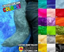 Custom Color Faux Fur Fake Fox Wolf Tail - cosplay - costume - fursuit - furry