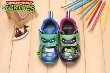 Teenage Mutant Ninja Turtles Kid's Boys Comfy LIGHT-UP Sneakers Shoes LED TT5390