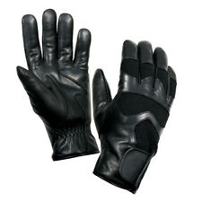 Black Leather Cold Weather Winter Hunting Airsoft Paintball Shooting Gloves