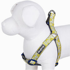 Blueberry Pet No Pull Adjustable Nylon Dog Harness With Silver Tinsel Roses