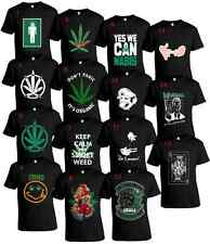 HUGE COLLECTION OF WEED MARIJUANA CANNABIS T-SHIRT 100% COTTON  FREE  SHIPPING