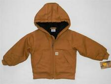 Carhartt Full Zip Hooded Cotton Duck Quilted Lined Jacket Toddler Boy 2T 3T