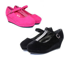 Erika-56k New Wedding Church Party Toddler Youth Girl's 2 inch Low Heel Shoes