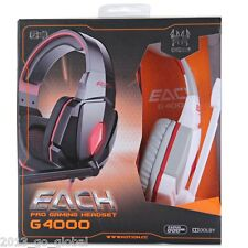 LED Gaming Headset Headband Portable Sport Media Player Mic For Mobile Phone Com