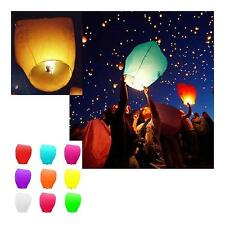 Chinese Sky Fly Fire Lanterns Kongming Latern Wish Flying Floating 2/5/10Pcs