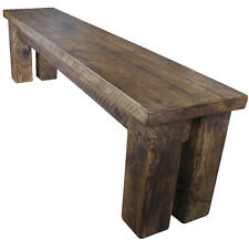 One Chunky Wooden Bench 3 4 5 6 7 8 Feet Long