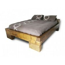 Chunky wood bed single double king super