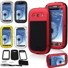 NEW Waterproof Aluminum Gorilla Glass Metal Case for Samsung Galaxy S3 i9300