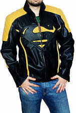 New superman smallville Yellow and Black contrast Faux leather jacket