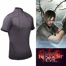 Resident Evil 4 Biohazard Leon Kennedy Grey Tee T Shirt Cosplay Costume