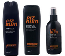 PIZ BUIN Classic Brown BRONZE Tan Intensifier - LOTION, Lotion SPRAY or DRY OIL