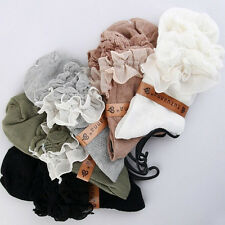 One Pair New Women Ladies Retro Cute Lace Ruffle Frilly Ankle Sock Cotton Socks