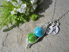 Sweet Peas in a Pod Necklace in Sterling Silver For Mom, Sister, Best Friend