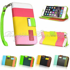 Hybird Flip Wallet Leather Case Cover Pouch Stand For Apple iPhone 6 Plus 5.5""