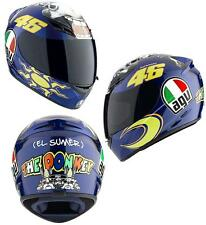 AGV K3 46 Valentino Rossi The Donkey Full Face Motorcycle Helmet Blue All Sizes