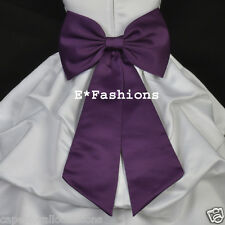 NEW TIE BOW SASH + FLOWER 4 CHRISTMAS HOLIDAY GIRL DRESS PAGEANT BRIDESMAID KIDS