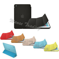 New For Apple iPad Air 2 Genuine Leather Smart Case Cover Slim Wake Protector