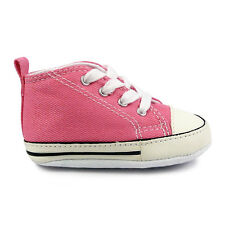 Baby Converse First Star Pink Crib Trainers