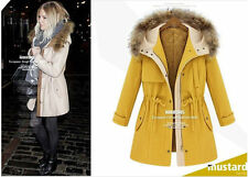 New Fashion Women's Winter Jacket Hooded Really Fur Collar Thicken WOOL COAT