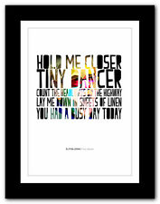 ELTON JOHN ❤ Tiny Dancer #2 - song lyrics typography poster art print - A1 A2 A3
