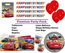 Disney Cars RSN 8-48 Guest Premium Party Pack inc. Decorations & Tableware