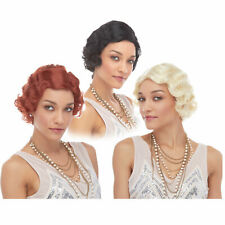 1920's Jazz Short Hair Flapper Great GATSBY Costume Wig Blonde Black Brown Red