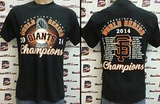 SAN FRANCISCO GIANTS DOUBLE-SIDED 2014 WORLD SERIES CHAMPIONS T-SHIRT