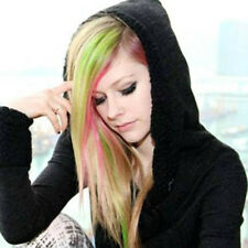 Fashion Women Long Straight Synthetic Clip in on Hair Extensions Piece Colorful