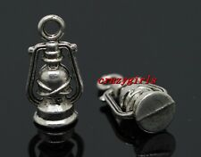 40/80pcs Antique Silver Beautiful Lamp Jewelry Finding Charms Pendant DIY 16x8mm