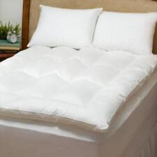 Baffle Box Fiberbed Mattress Topper Pad AND Down Pillows Twin Full Queen King