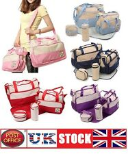 5pcs Baby Nappy Changing Bag Set Mummy Shoulder Handbag Diaper Bag Set Colours