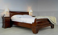 New Solid Mahogany French Sleigh Bed Low Foot Board Available in 2 Sizes EGB10