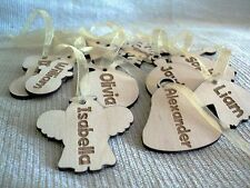 10 x wooden Christmas personalised gift tags, decoration, tree ornaments