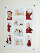 """large gloss modern Cheshire acrylic magnetic wall picture photo frame 10x 6x4"""""""