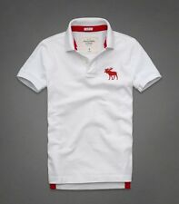 2014 Mens Abercrombie & Fitch Hollister Polo Shirt White S M L XL XXL T-Shirt