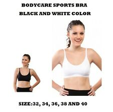 BODYCARE COTTON SPORTS BRA COOL & COMFORTABLE NICE LOOK IN BLACK & WHITE COLOR