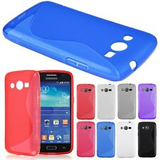 S-Line Wave Soft TPU Gel Cover Case for Samsung Galaxy Core LTE SM-G386F Core 4G