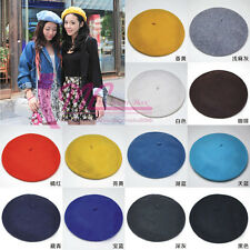 New Women's Vintage French Style Beret Hat Ladies Girl Beanie Hats Painter Cap