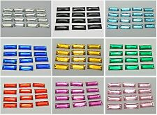 100 Acrylic Flatback Sewing Rhinestone Rectangle Button 7X19mm Pick Your Color